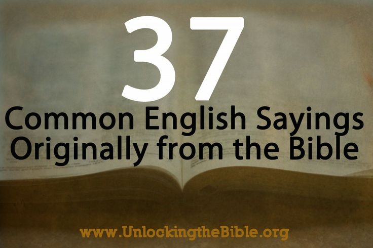 37 common english sayings from the bible todd tomasella